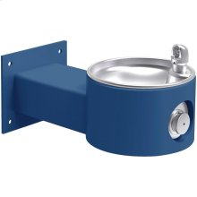 Elkay Outdoor Fountain Wall Mount, Non-Filtered Non-Refrigerated, Blue