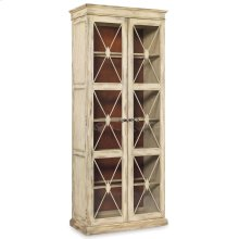 Dining Room Sanctuary Two-Door Thin Display Cabinet - Dune