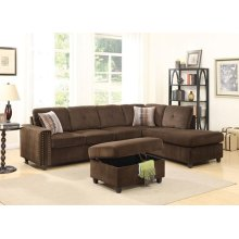BELVILLE CHOCOLATE SEC. SOFA