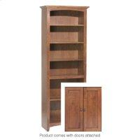 "GAC 72""H x 24""W McKenzie Alder Bookcase w/doors Product Image"