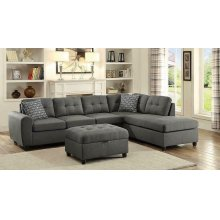 Stonenesse Contemporary Grey Sectional