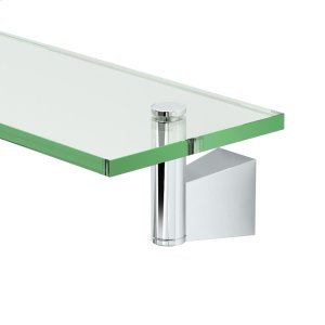 Bleu Glass Shelf in Chrome Product Image