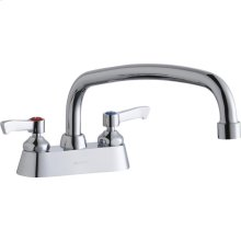"""Elkay 4"""" Centerset with Exposed Deck Faucet with 12"""" Arc Tube Spout 2"""" Lever Handles"""