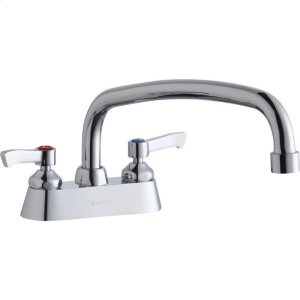 """Elkay 4"""" Centerset with Exposed Deck Faucet with 12"""" Arc Tube Spout 2"""" Lever Handles Product Image"""