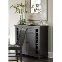 Server - Distressed Black Finish