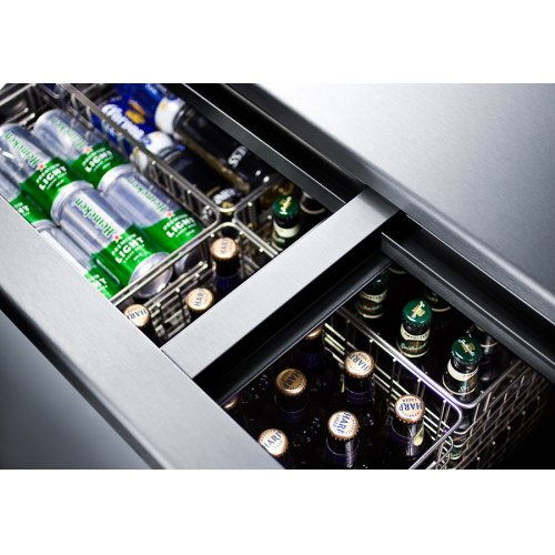 Commercial Frost-free Back Bar Chest Cooler for Storing Beer, With Digital Thermostat and 8 Baskets