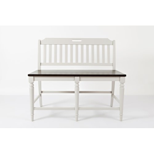 Orchard Park Slatback Counter Height Bench