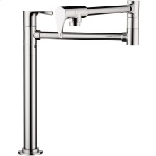 Chrome Single lever kitchen mixer deck-mounted