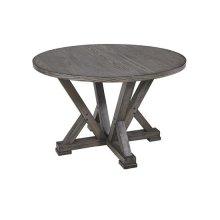 Round Dining Table - Harbor Gray Finish