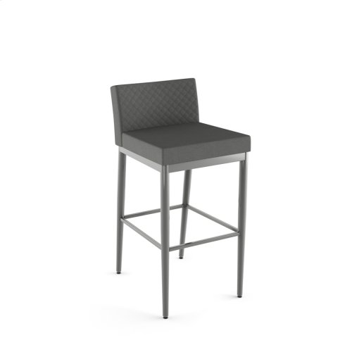 Hanson Non Swivel Stool With Quilted Fabric