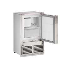 """Marine Series 14"""" Marine Crescent Ice Maker With Stainless Solid Finish and Field Reversible (flush To Cabinet) Door Swing (115 Volts / 60 Hz)"""