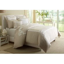 8 pc King Duvet Set Natural