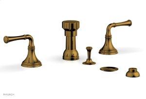 BEADED Four Hole Bidet Set 207-60 - French Brass Product Image