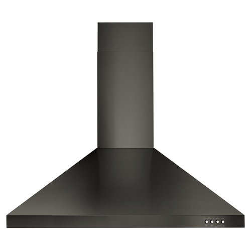"30"" Contemporary Black Stainless Wall Mount Range Hood"