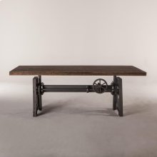 "Industrial Loft Dining Table 84"" Weathered Teak"
