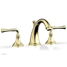 BEADED Widespread Faucet Lever Handles 207-01 - Polished Brass