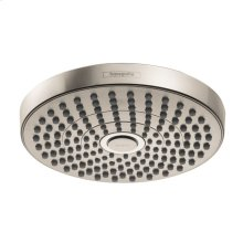 Brushed Nickel Showerhead 180 2-Jet, 1.8 GPM