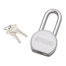 Padlock  Solid Steel Round Padlock - No Finish
