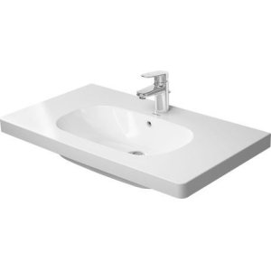 D-code Furniture Washbasin 1 Faucet Hole Punched
