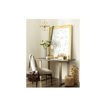 Austin by Rachael Ray Leg Writing Desk w/ Brass Finished Wood Accents