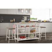 Kennon 3 Piece Kitchen Cart Set - Granite Top Product Image