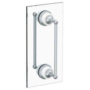 """Venetian 12"""" Double Shower Door Pull/ Glass Mount Towel Bar Product Image"""