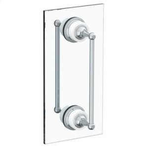"Venetian 12"" Double Shower Door Pull/ Glass Mount Towel Bar Product Image"