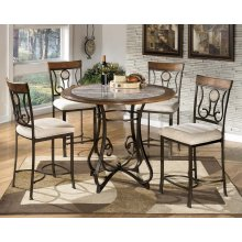 Hopstand - Brown 4 Piece Counter Height Table & 4 Barstools