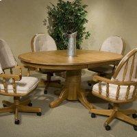 "Classic Oak Chestnut Laminate 48"" Pedestal Table Product Image"