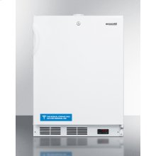Built-in Undercounter Frost-free All-freezer for General Purpose Use, With White Exterior, Digital Thermostat, and Lock