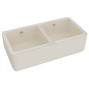 Parchment Shaws Original Farnworth Two Bowl Apron Front Fireclay Kitchen Sink Product Image