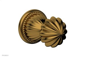 GEORGIAN & BARCELONA Volume Control/Diverter Trim - Round Handle 2PV361A - French Brass Product Image
