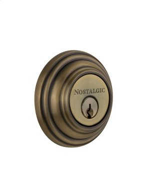 Nostalgic - Double Cylinder Deadbolt Keyed Differently - Classic in Antique Brass Product Image