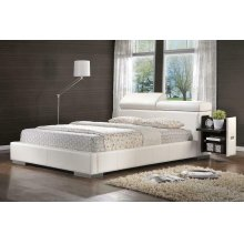 Maxine Upholstered Queen Bed White