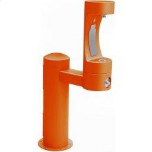 Elkay Outdoor EZH2O Bottle Filling Station Pedestal, Non-Filtered Non-Refrigerated Freeze Resistant Orange