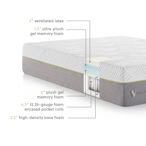 Red Hot Buy- Be Happy! Wellsville 14 Inch Latex Hybrid Mattress Split Queen