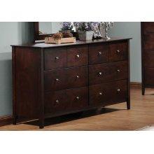 Tia Cappuccino Six-drawer Dresser