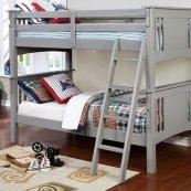 Spring Creek Twin/twin Bunk Bed, Gray
