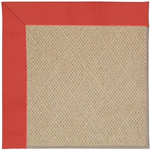 Creative Concepts-Cane Wicker Canvas Paprika Machine Tufted Rugs