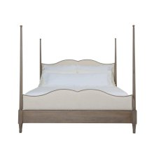 King-Sized Auberge Poster Bed in Weathered Oak (351)