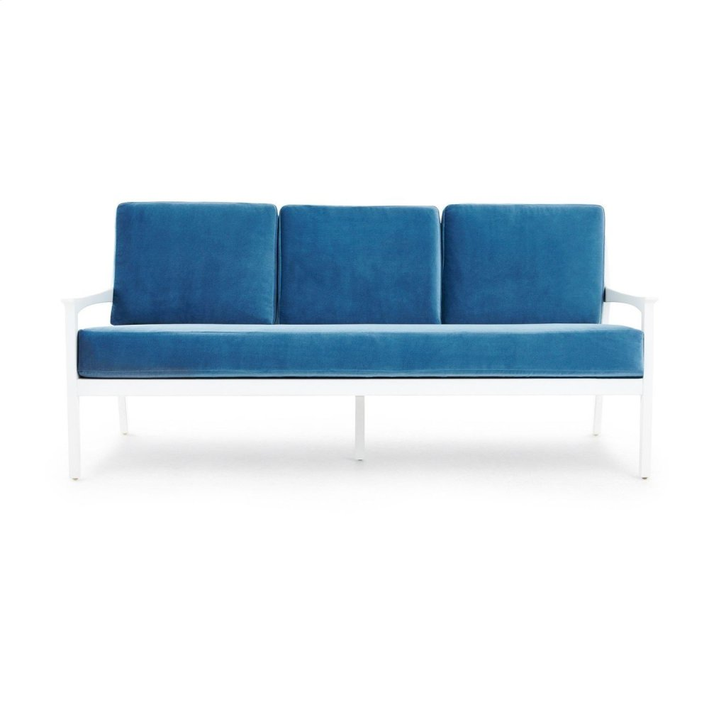 Albin Sofa Velvet Cushion Cover, Blue