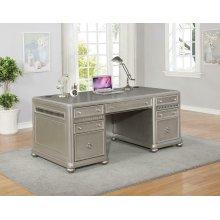 Ritzville Metallic Platinum Executive Desk