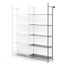 Add-on Bookshelf Size Gunmetal Finish Enloe Modular Bookshelf System