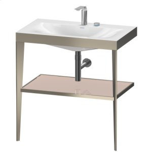 Furniture Washbasin C-bonded With Metal Console Floorstanding, Apricot Pearl High Gloss (lacquer) Product Image