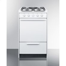 "20"" Wide Slide-in Gas Range In White With Sealed Burners and Electronic Ignition; Replaces Wnm114r/wtm1107srt"
