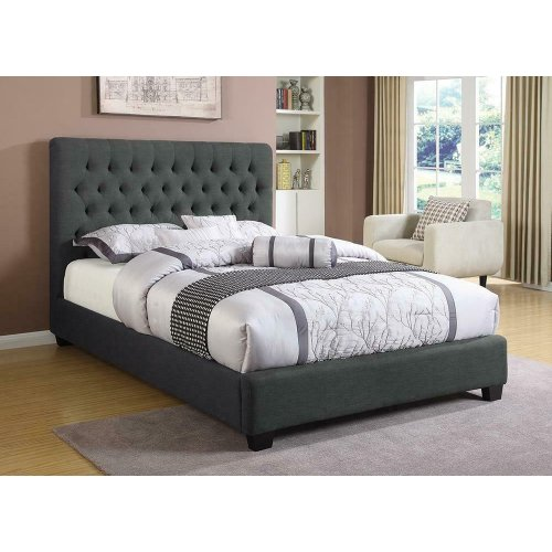 Chloe Charcoal Upholstered Queen Bed