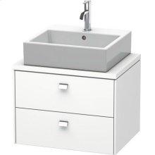 Brioso Vanity Unit For Console Compact, White Matte
