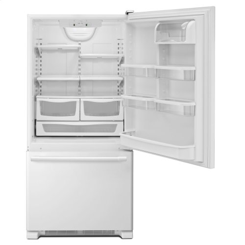 30-Inch Wide Bottom Mount Refrigerator - 19 Cu. Ft. White