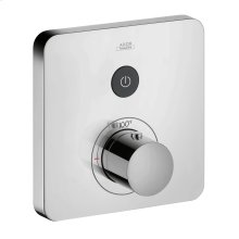 Chrome Thermostat for concealed installation softcube for 1 function