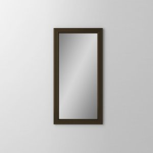 "Main Line 15-1/8"" X 29-7/8"" X 1-5/8"" Bryn Mawr Framed Mirror In Brushed Bronze Product Image"
